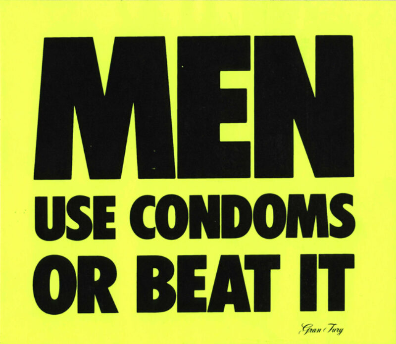 Gran-Fury Men use condoms